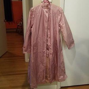 Jackets & Blazers - Vintage Dusty Rose Rain Coat